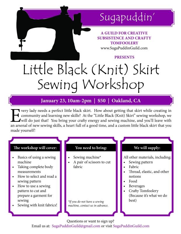 Sugapuddin Black Skirt Sewing Machine